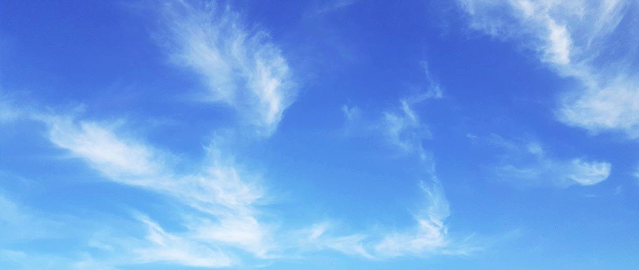 WKS-Gruppe-Druckholding-Header-Nachhaltigkeit-blauer Himmel mit Wolken